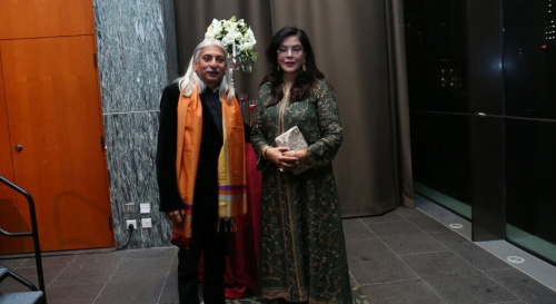 Glorious Zeenat Aman with Sanjoy Roy