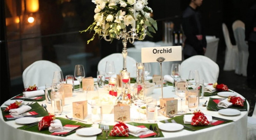 Parsi Wedding Feast Table Orchid
