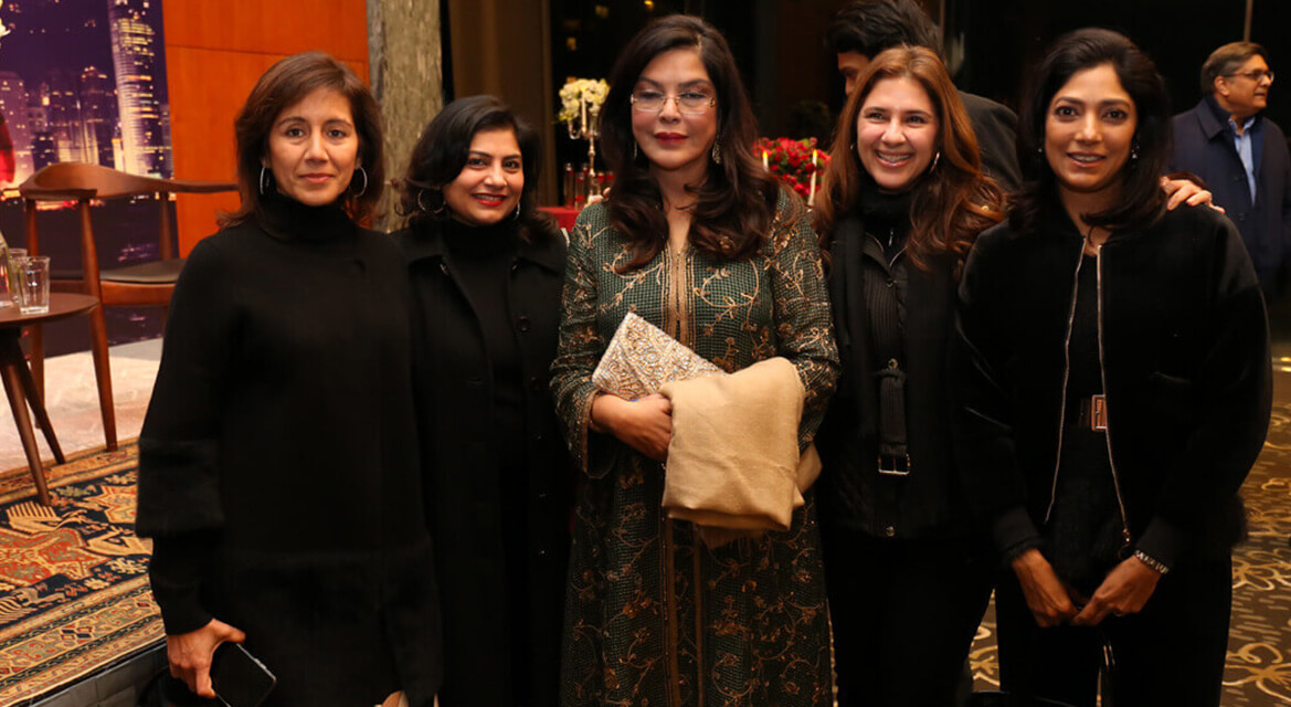 Zeenat Aman with Festival Guests